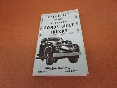 "49 OWNER MANUAL /""KEEPING OUT FRONT/"" 1949 FORD V-8 and 6 CAR OWNER/'S GUIDE"