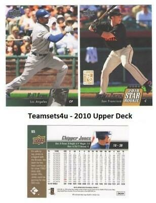 2010 Upper Deck Baseball Team Sets ** Pick Your Team Set ** See Checklist