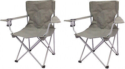 Camp Chair Quad Folding 2 Pk for Sporting Event Beach Tailgate Outdoor Lake Park