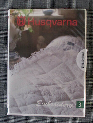 Husqvarna Embroidery Design Card #3 Booklet And Overlay