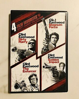 Dirty Harry Collection: 4 Film Favorites (DVD, 2-Disc Set) FREE SHIPPING!