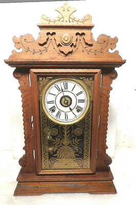 Beautiful Seth Thomas 8 Day Parlor Clock--Strike with Alarm & Lots of Carvings