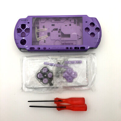 Purple Replacement Shell Housing case Cover screwdriver kits For Sony PSP 3000