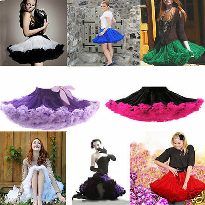 Colours Choice TUTU Skirt Petticoat Cosplay Pettiskirt Crinoline Dance Fancy Hot