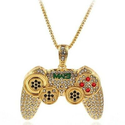 New Hip Hop Game Controller Pendant With Iced Out Franco Necklace Chain
