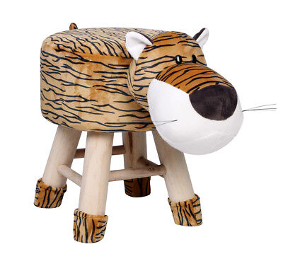 Kids Tiger Face Stool