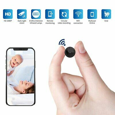 Mini Spy Hidden Wireless Camera 1080P Video Recorder Camera IR Motion Detection
