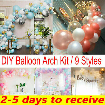 Latex Confetti Balloon Arch Kit Set Birthday Wedding Baby Shower Garland Decor