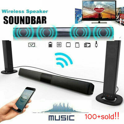 Wireless bluetooth  TV Soundbar 4 Speaker 3D Sound Bar Home PC Theater Subwoofer