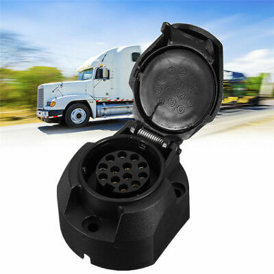 Waterproof Auto Car Trailer 13-Pin Plug Connector Socket Caravan Truck Adapter