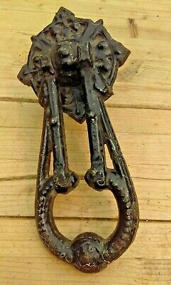 Antique A Kendrick & Sons Cast Iron Door Knocker Dated 1873