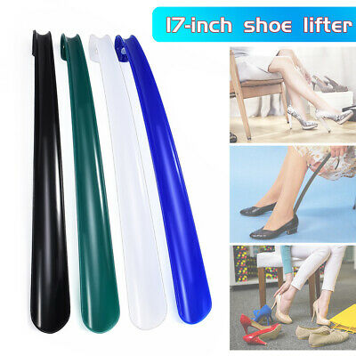 42cm Long Plastic Handle Shoe Horn Shoehorn Shoe Helper Easy Sturdy Slip Aid New