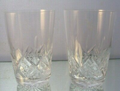 Stuart Crystal - Glengarry / Cambridge - Two 3 1/2 Inch Tumblers
