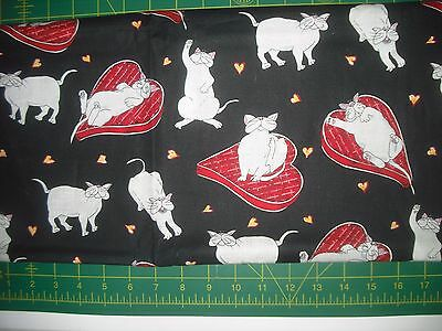 Kaufman Catberry Tails - Snickers   QUILT FABRIC - 1 yds