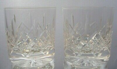 Stuart Crystal - Glengarry / Cambridge - Two 3 1/8 Inch Straight Sided Tumblers