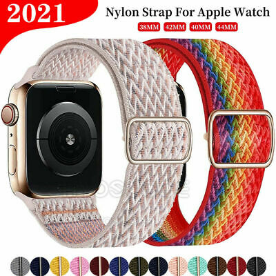 Neu Für Apple Watch Armband Nylon Uhrenarmband Sport Loop Series 1 / 2 / 3 / 4