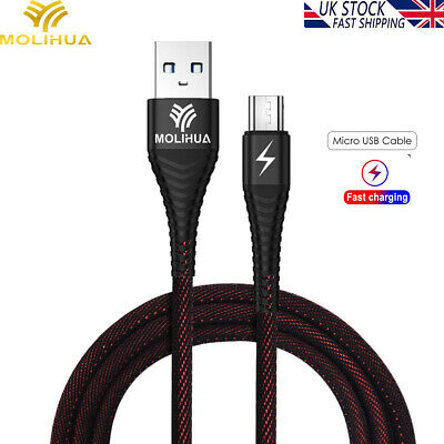 Micro USB Data Snyc FAST Charger Charging Cable 2.4A For Android Huawei Mate P30