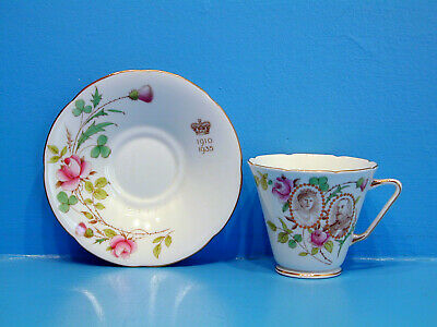 Grafton Cup & Saucer - George & Mary Silver Jubilee 1910 -1935