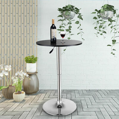 Adjustable Height Round Bar Table 360 Swivel Top Coffee Bistro Pub Cafe