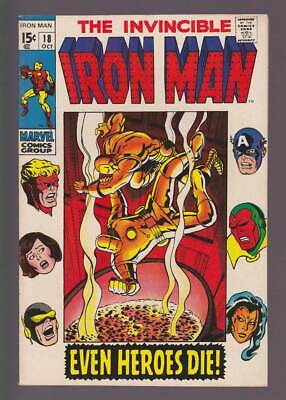 Iron Man # 18  Even Heroes Die !  grade 9.0 scarce book !