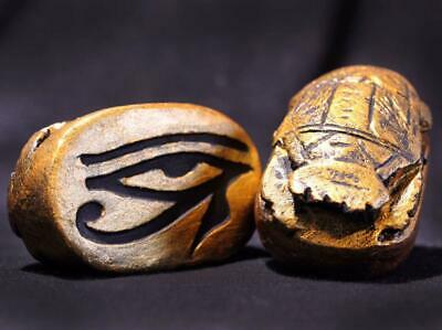 EYE OF HORUS SCARAB Ancient Egyptian Scarab replica