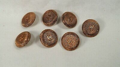 Set of 7 Authentic CHANEL Quilted Copper Round CC 20mm Shank Buttons