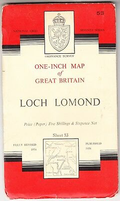 ORDNANCE SURVEY ONE INCH MAP: LOCH LOMOND (Seventh Series)