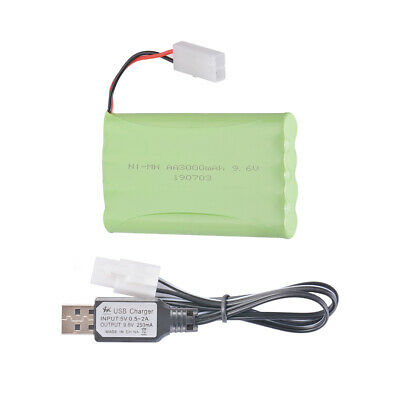 9.6V 3000mAh Rechargeable NI-MH AA Battery Pack KET Plug for Toys Electric BC935