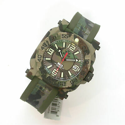 New 42Mm $350 Reactor Ss/Polymer Gryphon Camo Nd Dial 200M Dive Watch #73824 Nr