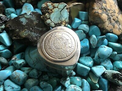 Vintage Sterling Silver/925 Mexican/Mayan Tear DropTrinket, Ring Box