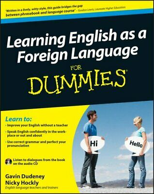 Learning English as a Foreign Language For Dummies 9780470747476   Brand New