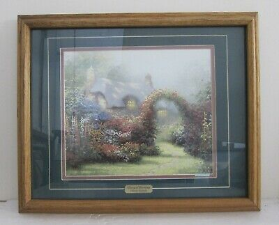 Thomas Kinkade 'Glory of Morning' Vintage Lithograph Print Matted & Framed 18x23