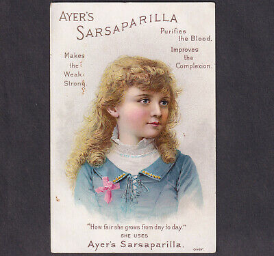 Clear Springs MD 1800s Ayers Sarsaparilla Blood Pimple Cure Victorian Trade Card