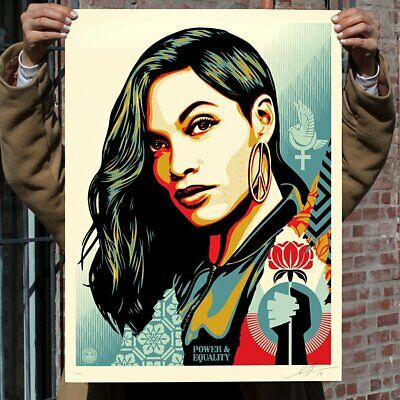 SIGNED Shepard Fairey POWER AND EQUALITY DOVE Print Poster Obey Giant S/N B#/400