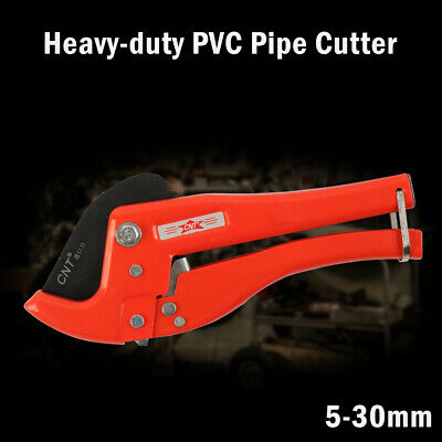 Ratchet Action 5-30mm Plastic Pipe Cutter Plumbing Tool PVC Water Tube Hose