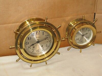 Seth Thomas Vintage Ships Bell Clock~6 In.dial~1928~Chelsea Key~Seldom Seen Mdl