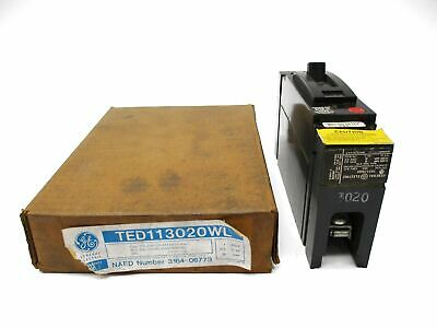General Electric Ted113020Wl 277Vac 20A 125Vdc Nsmp