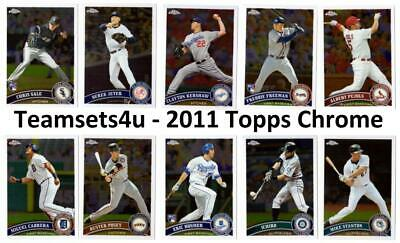 2011 Topps Chrome Baseball Set ** Pick Your Team ** See Checklist in Description