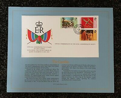 Royal Commonwealth Society 1977 SILVER JUBILEE Commemorative Cover THE GAMBIA