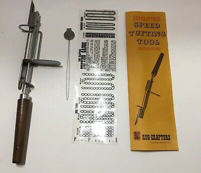 Rug Crafters Speed Tufting Tool w/ Threader Tufting Gauge & Box
