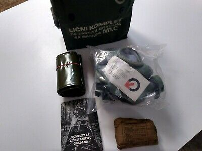 Serbian/Yugoslavian gas mask M1- 60mm filter and bag NBC