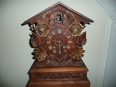 Large Ornate,Table / Mantle Cuckoo Clock,Circa 1890,Alexander Fleig. Restoration