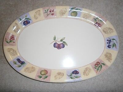 Wonderful Marks & Spencer Wild Fruits Large Oval Platter 41 Cms X 28 Great Cond