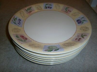 6 Gorgeous Marks & Spencer Wild Fruits Dinner Plates 11 Inch Barely Used Cond