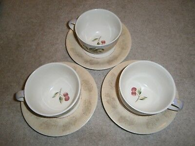 3 Wonderful Marks & Spencer Wild Fruits Cups & Saucers In Terrific Condition