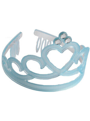 Frosted Frozen Blue Tiara Jewel Princess Queen Royalty 12 Pack Costume Accessory