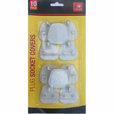 10 Plug Socket Covers Babies Children's Safety Protector  UK 3 Pin Sockets New