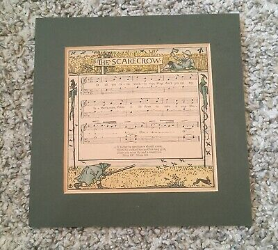 The Scarecrow Childrens Nursery Rhyme Song Picture, In Cardboard Frame