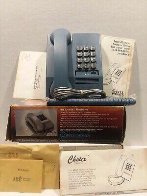 Vintage  Bell Blue Push Button Telephone Phone by Northwestern Bell Desk Top new