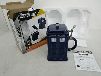 Doctor Who 50oz Tardis Stein w/Hinged Lid Official BBC Series One